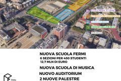 Il masterplan dell'area Turri in grafica