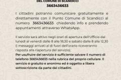 La grafica sul servizio WhatsApp di Punto Comune