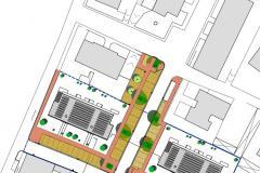 Il progetto per l'area tra via San Giusto e via Vittorio Emanuele Orlando