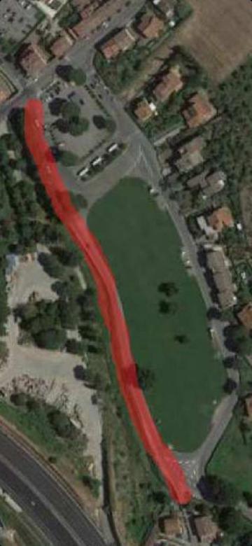 Veduta aerea dell'area interessata dagli interventi