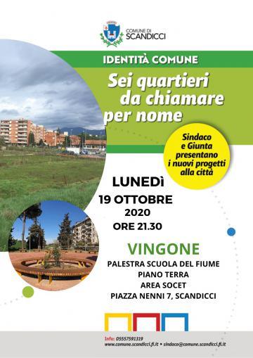 La locandina dell'assemblea a Vingone di lunedì 19 ottobre 2020