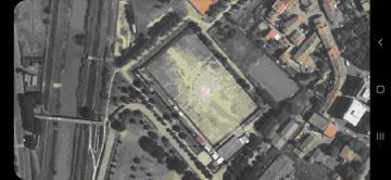 Vista aerea del campo di calcio di San Giusto
