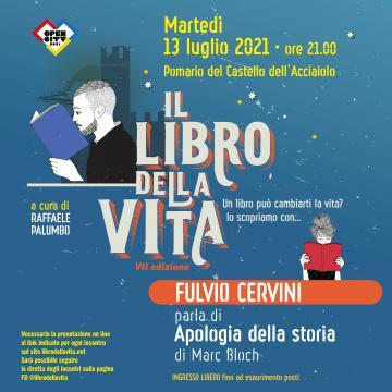 La locandina dell'incontro con Fulvio Cervini