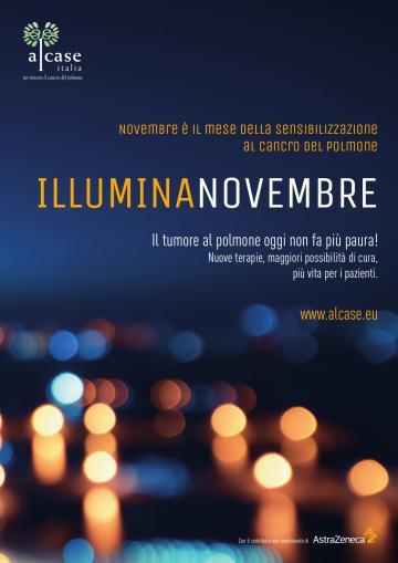 Il cartello dell'iniziativa Illumina Novembre