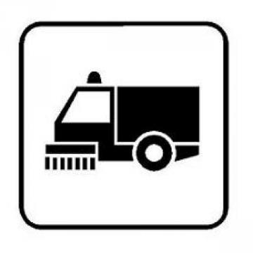 Il disegno stilizzato di una spazzatrice