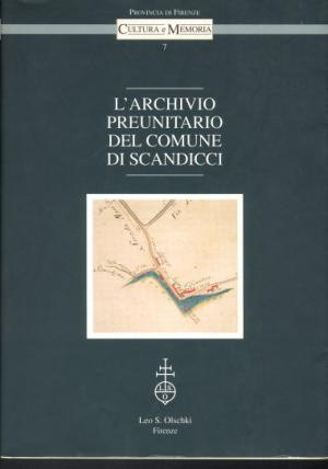 copertina inventario archivio preunitario Scandicci