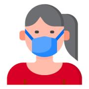 Il disegno di una ragazza che indossa una mascherina