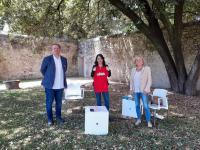 Luciana Breggia con Raffaele Palumbo e l'assessora alla Cultura Claudia Sereni