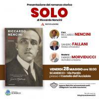 La locandina della presentazione del romanzo Solo di Riccardo Nencini