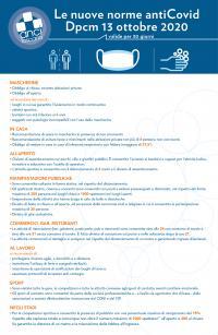 La sintesi di Anci Toscana delle misure del Dpcm 12 ottobre 2020