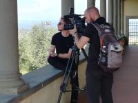 """Le riprese per il documentario """"Oltre il casello"""""""