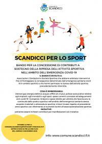 La locandina per il Bando per i Contributi alle società sportive