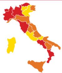 La divisione in zone dell'Italia