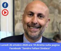 Diretta Sindaco 26 ottobre 2020