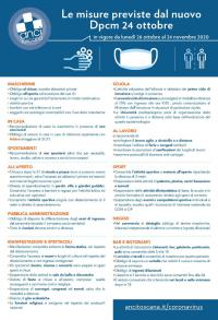 La sintesi del Dpcm 24 ottobre 2020 pubblicata da Anci Toscana