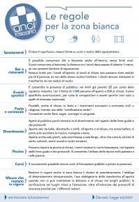 La sintesi di Anci Toscana delle regole in vigore in zona bianca