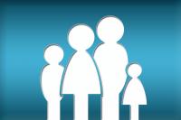 Il disegno stilizzato di una famiglia