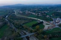 Immagine aerea dei lavori per la variante di San Vincenzo a Torri