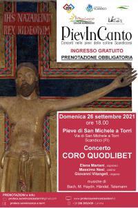 La locandina del concerto del coro Quodlibet