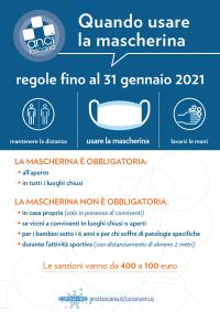 Le indicazioni di Anci Toscana sull'obbligo di mascherine