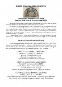 Il programma del 10 maggio 2021, San Zanobi
