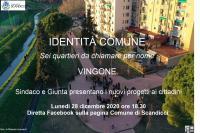 La locandina dell'assemblea in diretta Facebook sul quartiere di Vingone