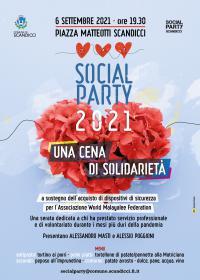 La locandina del Social Party 2021